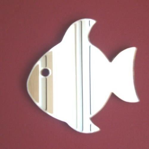 poisson avec miroir des yeux 12cm x 11cm achat