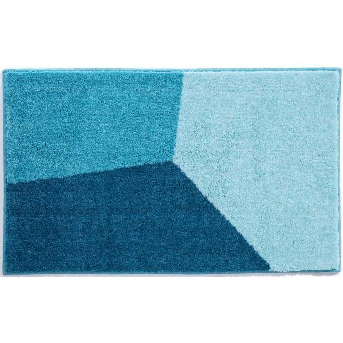 tapis de bain 50x60 acrylique bleu pais moelleux achat vente tapis de bain cdiscount. Black Bedroom Furniture Sets. Home Design Ideas