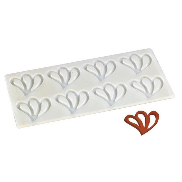 plaque silicone 8 empreintes feuille 2 pour decors chocolat et sucre cuisine autour de la. Black Bedroom Furniture Sets. Home Design Ideas