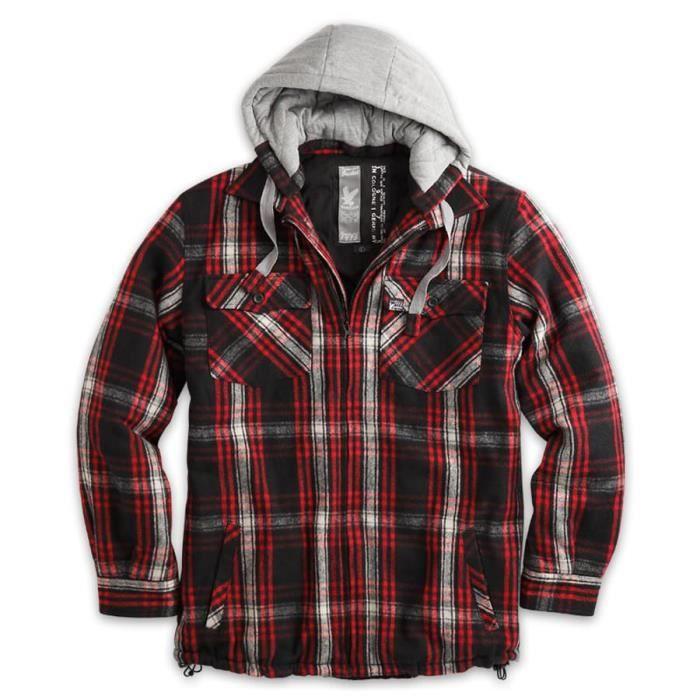 veste bucheron rouge carreaux ca multicolore achat