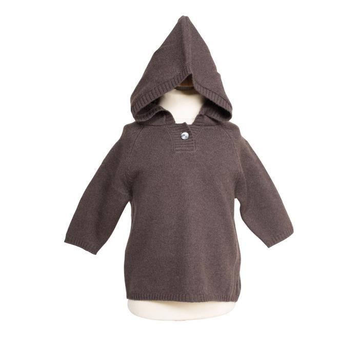 Pull cachemire enfant nobour marron noir achat vente for Pull cachemire enfant