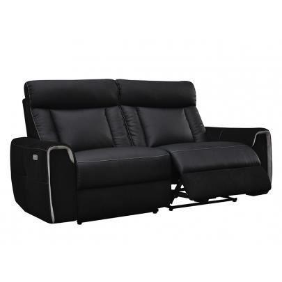 canap 2 3 places relax lectrique en pu et mic achat vente canap sofa divan pu. Black Bedroom Furniture Sets. Home Design Ideas