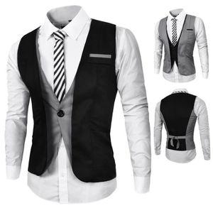 gilet de costume homme gris achat vente gilet de costume homme gris pas cher cdiscount. Black Bedroom Furniture Sets. Home Design Ideas