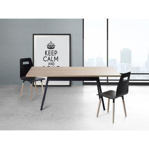 table de cuisine chene clair achat vente table de. Black Bedroom Furniture Sets. Home Design Ideas