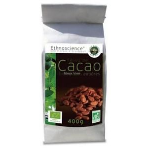 CACAO - CHOCOLAT Fêves de cacao entière du Pérou BIO - sachet 400 g