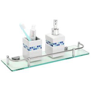 Etagere en verre pour salle de bain - Achat / Vente Etagere en ...