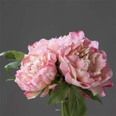 Bouquet de 3 pivoines rose epanouies artificiel achat vente fleur artifi - Bouquet de rose artificielle ...