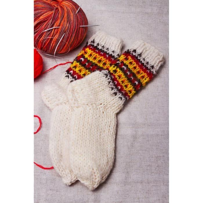 chaussettes laine femme blanc orange achat vente chaussettes 2009919143998 cdiscount. Black Bedroom Furniture Sets. Home Design Ideas
