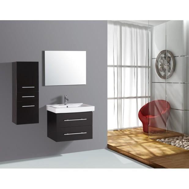 Magnifique meuble salle de bain complet alpina wenge 1 vasque 1 miroir achat vente salle de - Meuble salle de bain complet ...