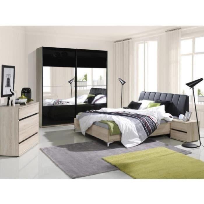 Chambre coucher compl te saragossa achat vente chambre compl te chambre - Chambre a coucher cdiscount ...