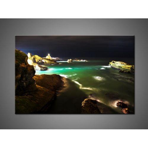 Tableau contemporain biarritz de nuit achat vente tableau toile cdisc - Achat tableau contemporain ...
