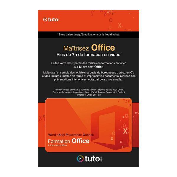 carte 100 cr u00e9dits tuto formation pack office   vente logiciel bureautique tuto com carte