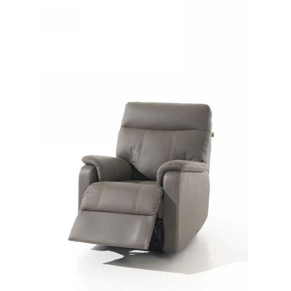 Fauteuil relax lectrique gris 39 camia 39 achat vente for Fauteuil confortable salon