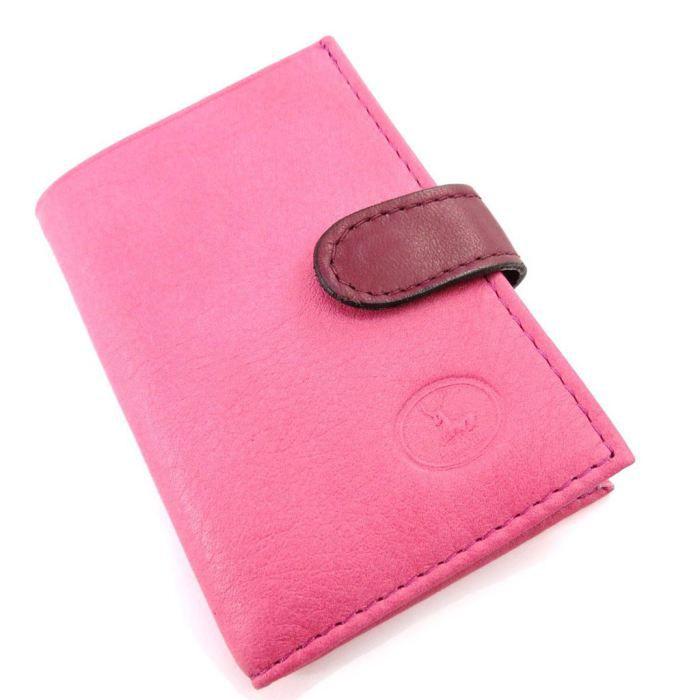 Porte cartes cuir frandi rose bordeaux sauvage achat vente porte carte porte cartes cuir for Achat porte interieur bordeaux
