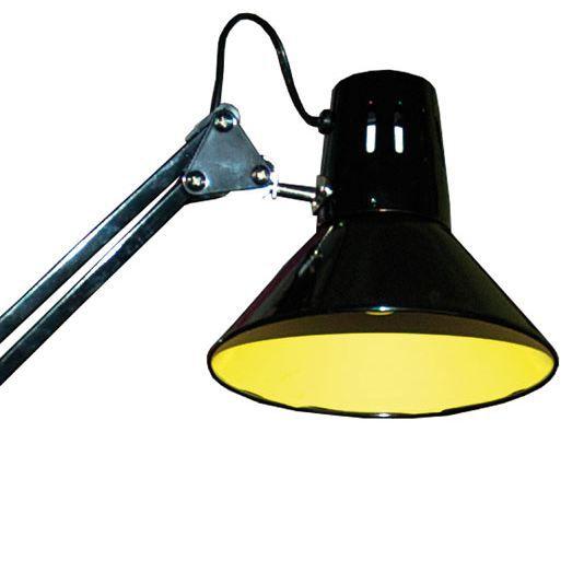 lampe bureau biloon noire jaune achat vente lampe bureau biloon noir jaune m tal cdiscount. Black Bedroom Furniture Sets. Home Design Ideas