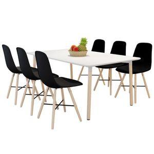 Chaises fer et bois achat vente chaises fer et bois - Lot de 6 chaises de salle a manger pas cher ...