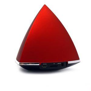 enceinte sans fil bluetooth mini portable usb rechargeable speaker forme pyramidale sans fil. Black Bedroom Furniture Sets. Home Design Ideas