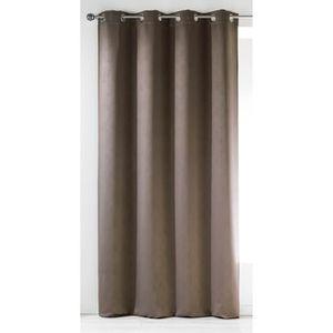 rideaux marron achat vente rideaux marron pas cher cdiscount. Black Bedroom Furniture Sets. Home Design Ideas