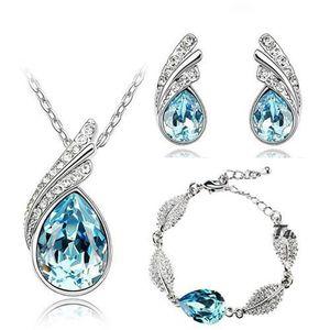PARURE Coffret Parure Bijoux Goutte Diamantée 5 Pièces Cr