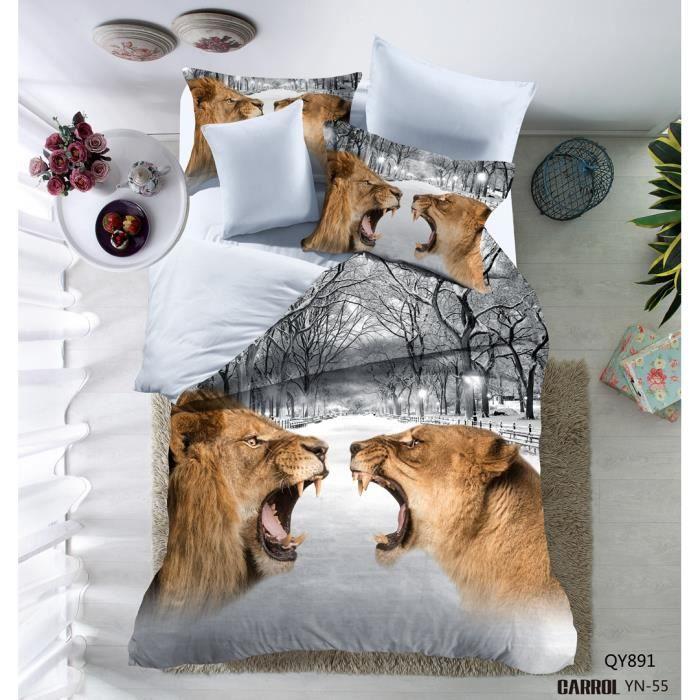 parure de lit 2 pi ces housse de couette polyester le. Black Bedroom Furniture Sets. Home Design Ideas