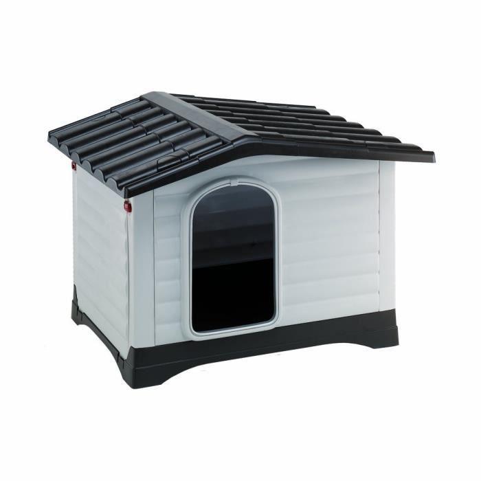 Niche en plastique dogvilla 70 abri pour chien achat for Niche chien exterieur