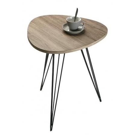 Table d 39 appoint design en m tal et bois seattle achat for Table bois metal design