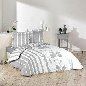 linge de lit parure de drap ligne decor cdaffaires achat vente parure de drap cdiscount. Black Bedroom Furniture Sets. Home Design Ideas