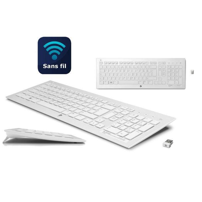 hp clavier sans fil k5510 blanc prix pas cher cdiscount. Black Bedroom Furniture Sets. Home Design Ideas