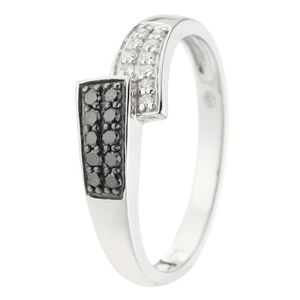 BAGUE - ANNEAU MONTE CARLO STAR Bague Or Blanc 375°et Diamants