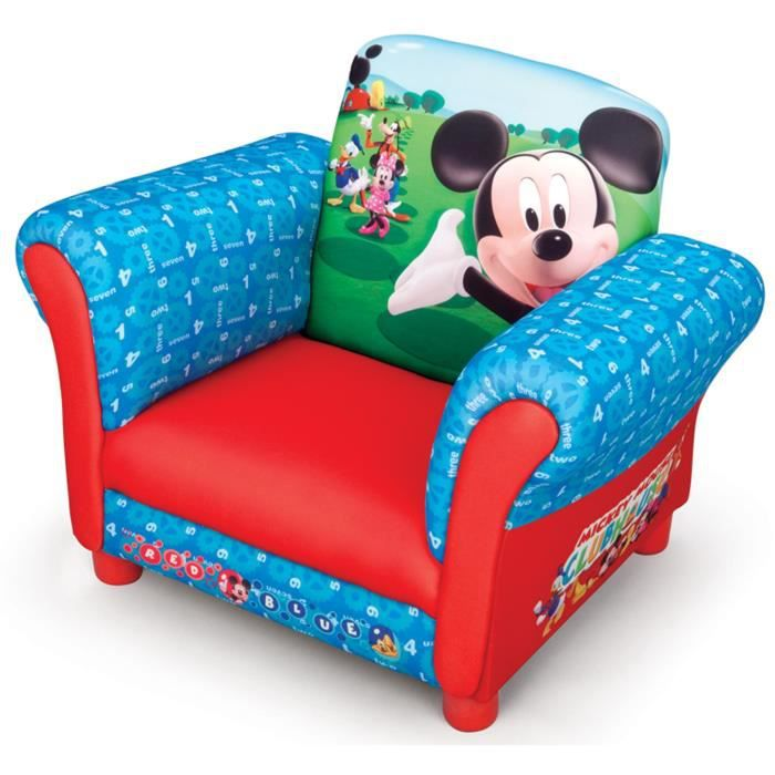 mickey fauteuil enfant chesterfield achat vente fauteuil canap b b cdiscount. Black Bedroom Furniture Sets. Home Design Ideas