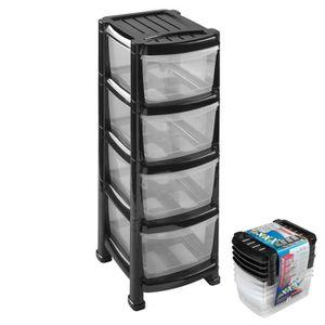 tour rangement plastique achat vente tour rangement plastique pas cher les soldes sur. Black Bedroom Furniture Sets. Home Design Ideas