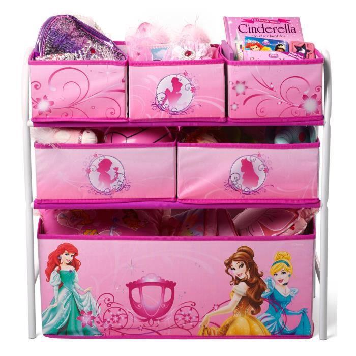 Disney princesses meuble de rangement enfant jouets 6 bacs - Meuble de rangement jouet ...