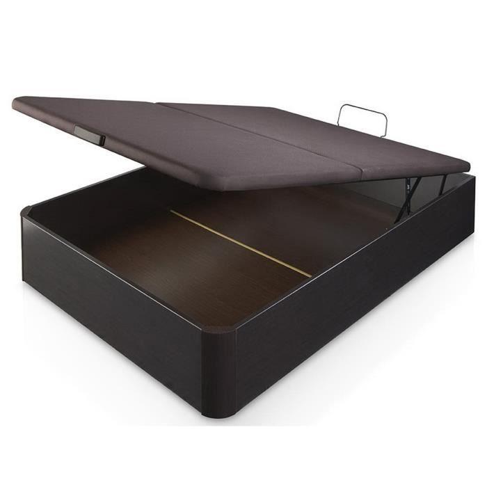 sensation lit coffre adulte 140x190cm d cor weng achat vente structure de lit sensation lit. Black Bedroom Furniture Sets. Home Design Ideas