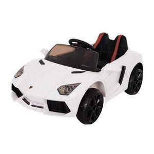 Voiture électrique Type Lamborghini 12V - Blanc