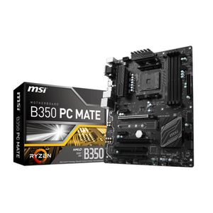 MSI Carte m?re B350 PC MATE - Socket AM4 - DDR4 - 3200+ (OC) MHz - B350 PC MATE