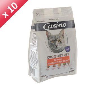 CASINO Croquettes au poulet, au canard et aux légumes - Pour chat - 400g (x10)