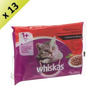 WHISKAS Sachet de viandes en sauce - Pour chat - 4x100g (x13)