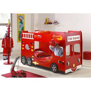 FUN BEDS Lits enfant superposés Camion de Pompier