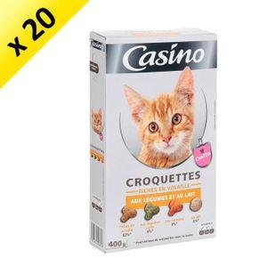CASINO Croquettes au volaille, aux légumes et au lait - Pour chaton - 400g (x20)