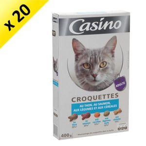 CASINO Croquettes au thon et au saumon - Pour chat - 400g (x20)