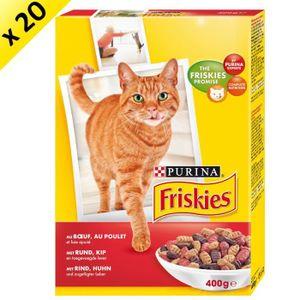 FRISKIES B?uf, Poulet, Foie ajouté - 400 g (x20) - Pour chat adulte
