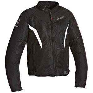 BERING Florida Blouson Moto Textile Noir et Blanc