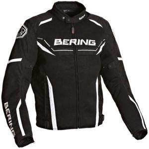 BERING Scream Blouson Moto Textile Noir et Blanc