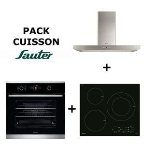 Pack Cuisson SAUTER : Four multifonction + Table de cuisson Induction + Hotte inox