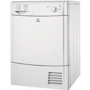 S?che-linge frontal ? condensation - Capacité : 7kg - Classe énergétique B - Niveau sonore : 69dB - Témoins led - Programmation mécanique - Cool Air Cycle - Porte pleine - Coloris : Blanc