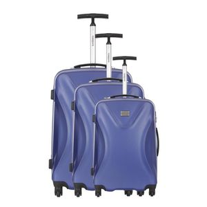 TORRENTE Set de 3 Valises Rigide ABS 4 Roues 50-60-70 cm ATHENES Bleu