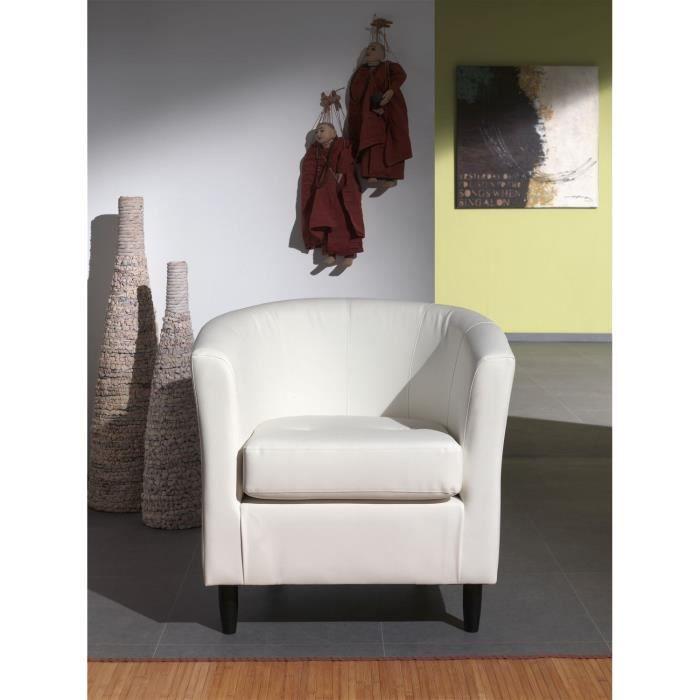 orleans fauteuil cabriolet en simili blanc vendu par cdiscount 277047. Black Bedroom Furniture Sets. Home Design Ideas