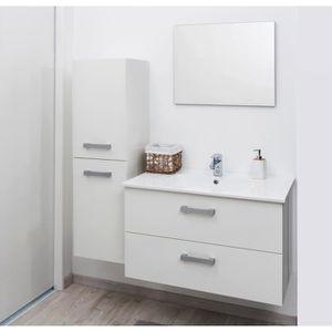 SYVA Colonne de salle de bain 35 cm - Blanc