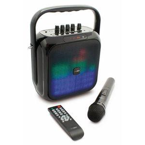 CALIBER HPG516BTL Enceinte portable Bluetooth portable avec éclairage LED multicolores avec batterie intégrée et option Karaoké
