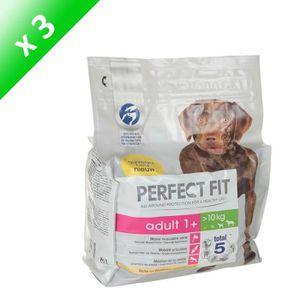 PERFECT FIT Croquettes au poulet - Pour chien adulte - 2,6kg (x3)